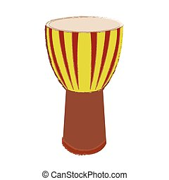 Isolated conga drum on a white background, Vector...