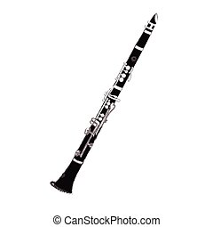 Isolated flute illustration - Isolated flute on a white...