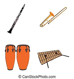 Set of musical instruments - Set of different musical...