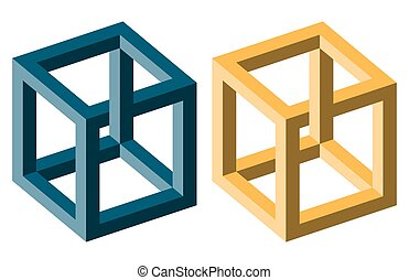 optical illusion blue and yellow - unreal optical illusion...