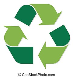 Recycling symbol green - simple recycling symbol colored...