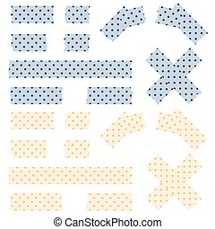 Tape pointed pattern - blue and yellow - blue and yellow...