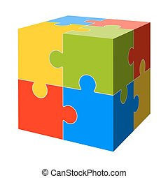 colored puzzle cube