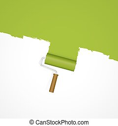 Background paint roller - repainting green