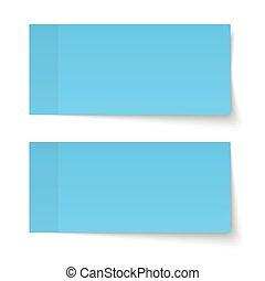 Set of sticky notes blue