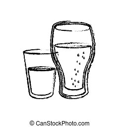 soft drink icon over white background. vector illustration