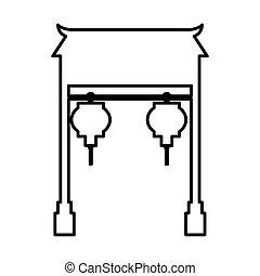 asian portal culture icon vector illustration design