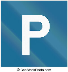 Road sign used in Croatia - Parking