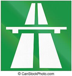 Road sign used in Croatia - Motorway