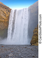 Waterfall Skogafoss in Iceland