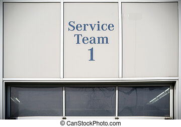 Auto Repair Shop - The service team 1 of an auto repair shop...