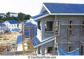 Housing Construction Site, Brunei - Image of a housing...