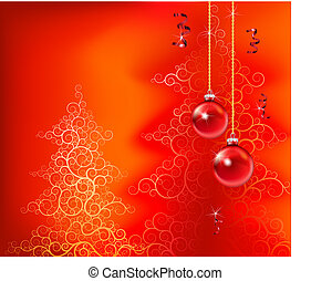 red christmas background - beautiful christmas inspired...