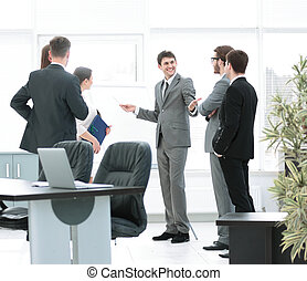 office life. workplace and business team discussing a new...