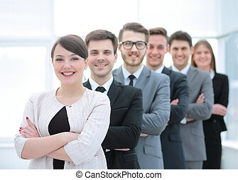 concept of the professional team:a successful business team...