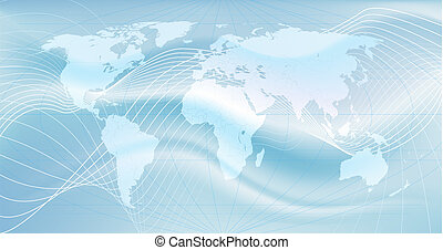 the global network - Illustration of the world. An abstract...
