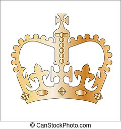 Golden Isolated Crown - The crown similar to that found on...
