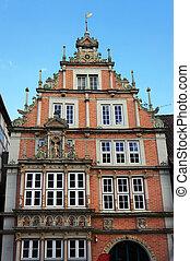 Old medieval building in Hameln, Germany. - Old medieval...