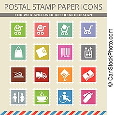 Shopping icon set - Shopping simply symbols for web and user...