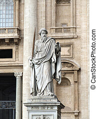 Saint Paul - Statue of Saint Paul the Apostle, located on...