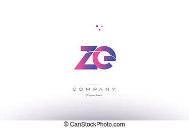 ze z e pink modern creative alphabet letter logo icon...