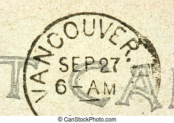 Vancouver stamp - Vintage cancellation stamp from Vancouver...