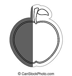 apple fruit icon over white background. vector illustration