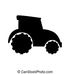 farm tractor icon over white background. vector illustration