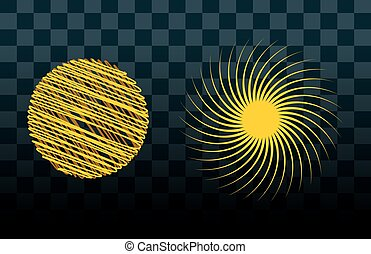 Sun burst star icon set vector illustration - Sun burst or...