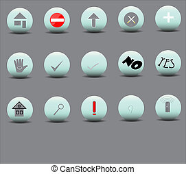 Set of 15 icons of various bulk