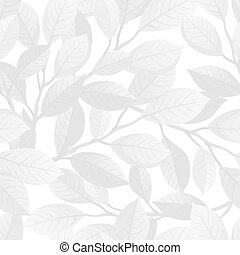 White floral seamless pattern.