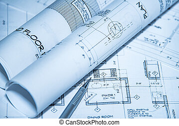 Scroll and lay out of blueprint to new home
