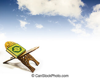koran with sky, bstract blurred background