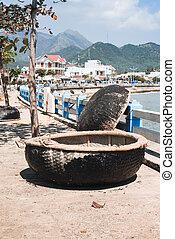 Harbor with fishing Vietnamese boats - Local fishing boats...