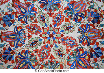 Floral Tapestry Wall Hanging in Israel - Red, White, Blue...