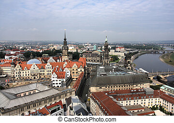 Dresden - Beautiful cityscape of Dresden, Saxony, Germany...