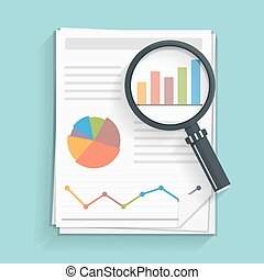 Financial Report - Papers with business report and...