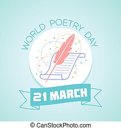 21 March World Poetry Day - Calendar for each day on March...