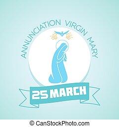 25 March Annunciation Virgin Mary - Calendar for each day on...
