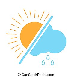 Icon Meteorological day. Icon in the linear style