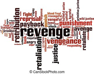 Revenge word cloud concept. Vector illustration