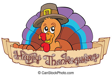Happy Thanksgiving theme 1 - vector illustration.