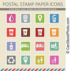 garbage icon set - garbage web icons for user interface...