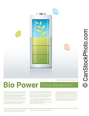 Green energy concept background with bio energy charging...