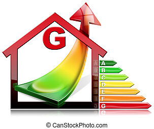 Energy Efficiency - House with Energy Waste