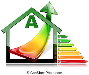 Energy Efficiency - House with Energy Saving