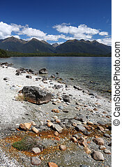 Fiordland - Manapouri - beautiful mountain lake in Southland...