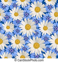 Seamless pattern flowers - Seamless pattern with white...