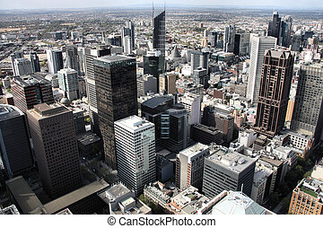 Melbourne - Beautiful cityscape of Melbourne, Australia...