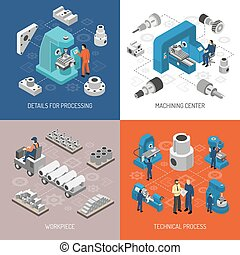 Heavy Industry Isometric Design Concept - Heavy industry...